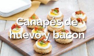 Canapés de huevo y bacon