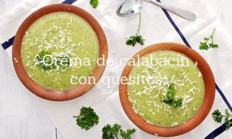 Crema de calabacín con quesitos