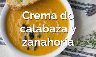 Crema de calabaza y zanahoria