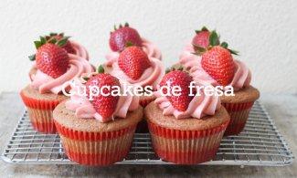 Cupcakes de fresa y vainilla