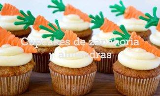 Cupcakes de zanahoria y almendras