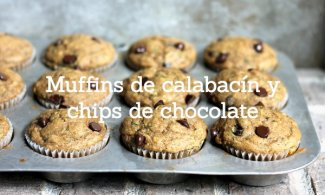 Muffins de calabacín y chips de chocolate