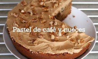 Pastel de café y nueces