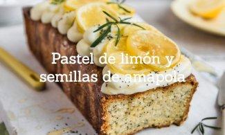 Pastel de limón y semillas de amapola