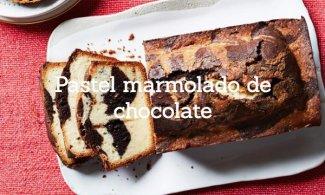 Pastel marmolado de chocolate