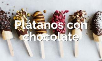 Plátanos con chocolate