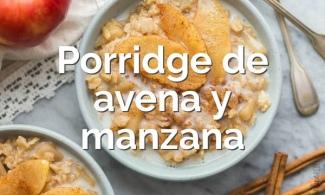 Porridge de avena y manzana