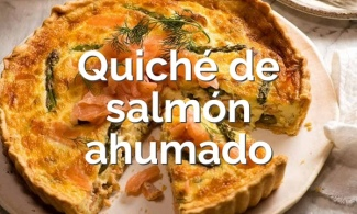 Quiché de salmón ahumado