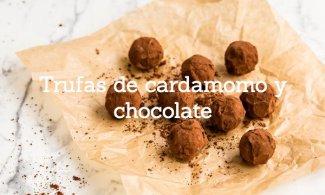 Trufas de cardamomo y chocolate